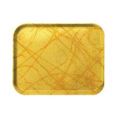 Carlisle 1212DFG028 Rectangular Cafeteria Tray - 32.5x26.5cm, Starfire Gray