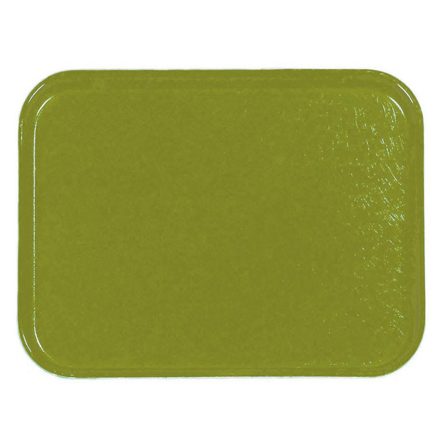 Carlisle 1212FG008 Rectangular Cafeteria Tray - 32.5x26.5cm, Avocado