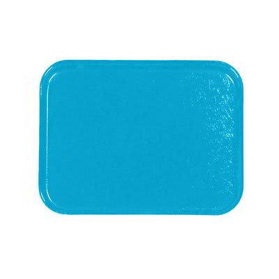 Carlisle 1212FG011 Rectangular Cafeteria Tray - 32.5x26.5cm, Turquoise