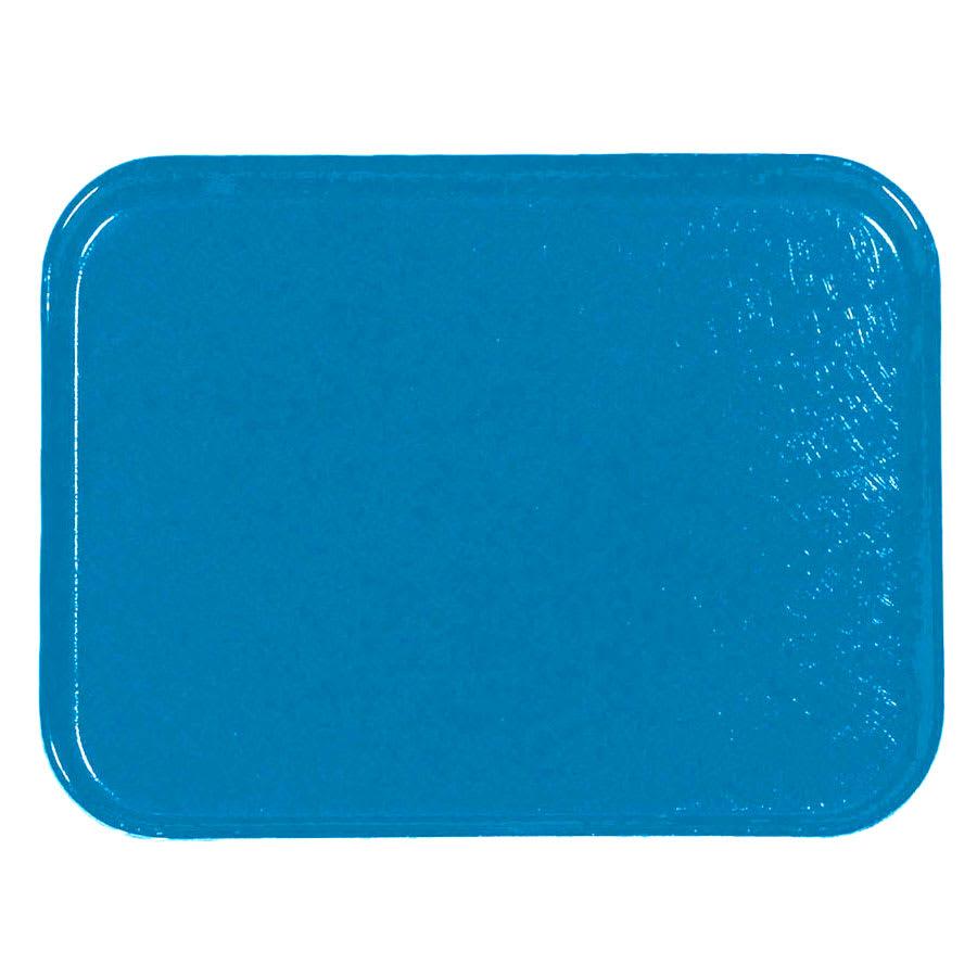 "Carlisle 1212FG013 Fiberglass Cafeteria Tray -  12.8""L x 10.4""W, Ice Blue"