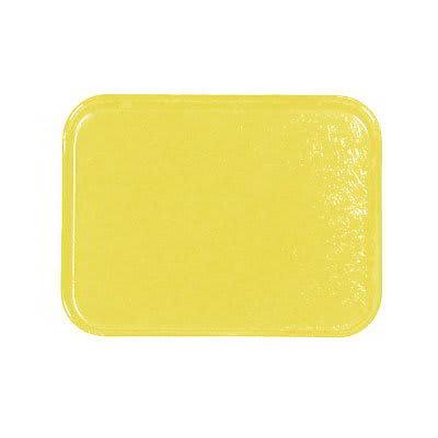 Carlisle 1212FG024 Rectangular Cafeteria Tray - 32.5x26.5cm, Lemon