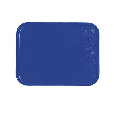 Carlisle 1212FG050 Rectangular Cafeteria Tray - 32.5x26.5cm, Sapphire Blue