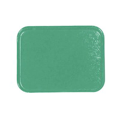 Carlisle 1212FG053 Rectangular Cafeteria Tray - 32.5x26.5cm, Jade
