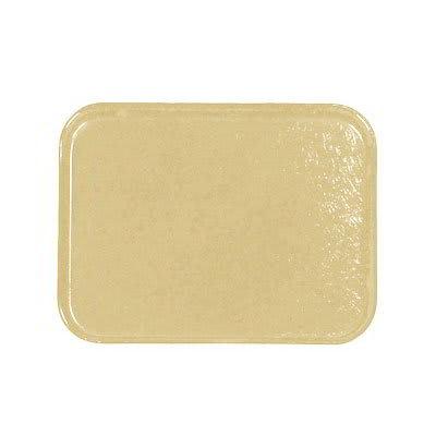 Carlisle 1212FG095 Rectangular Cafeteria Tray - 32.5x26.5cm, Almond