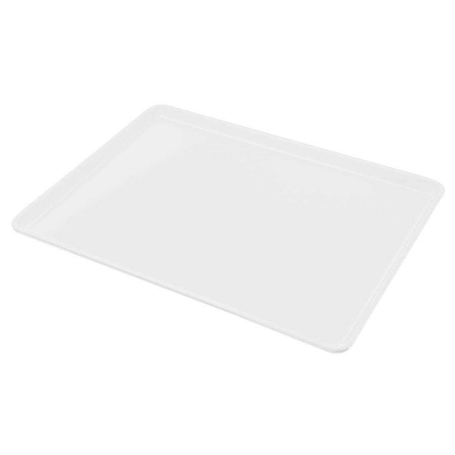 "Carlisle 1216LFG001 Rectangular Cafeteria Tray - Low-Edge, 16 3/8x12"" Bone White"