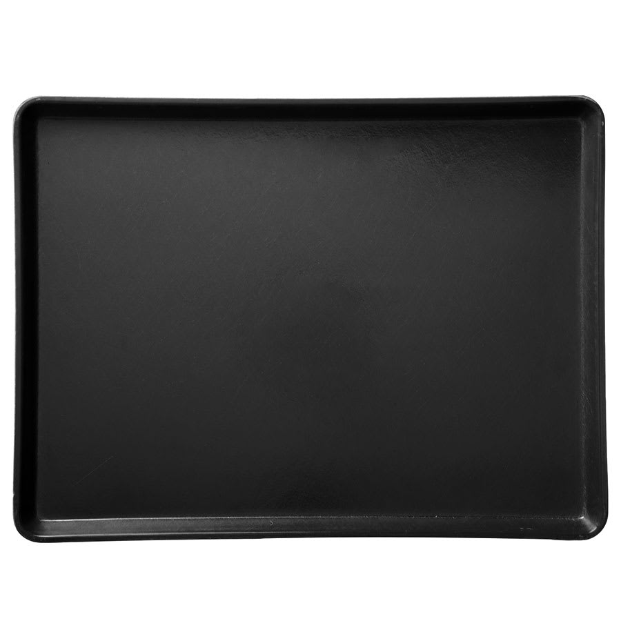 "Carlisle 1216LFG004 Rectangular Cafeteria Tray - Low-Edge, 16 3/8x12"" Black"