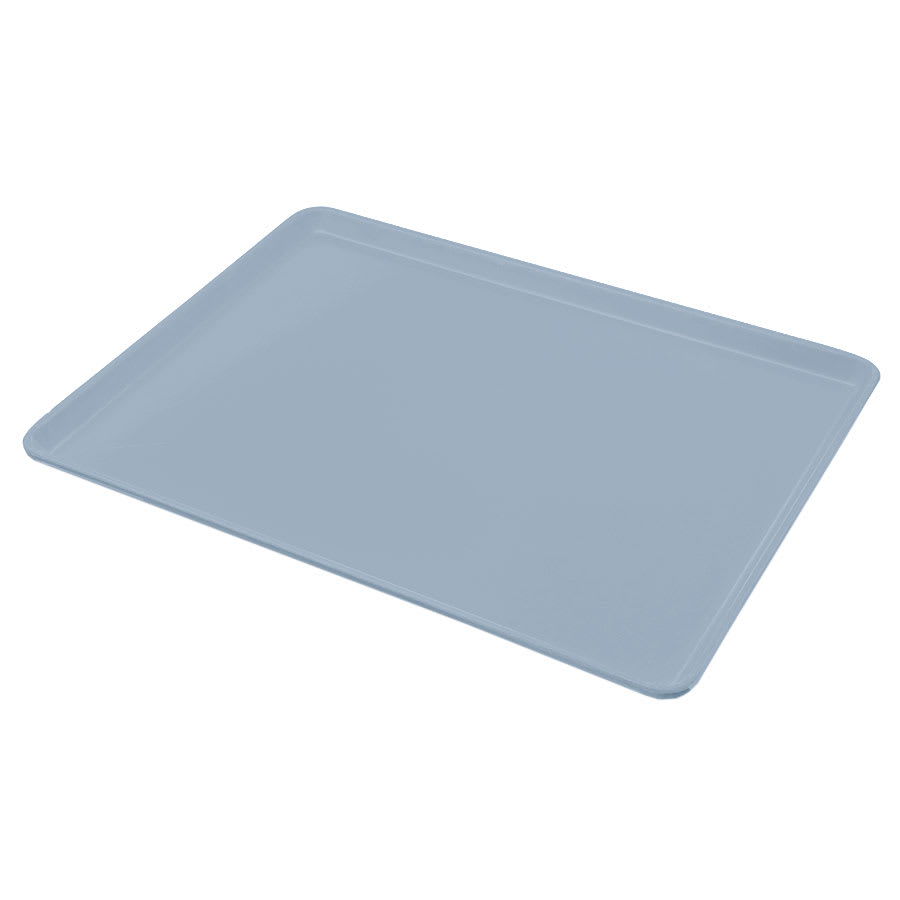 "Carlisle 1216LFG012 Rectangular Cafeteria Tray - Low-Edge, 16-3/8x12"" Sea Spray"