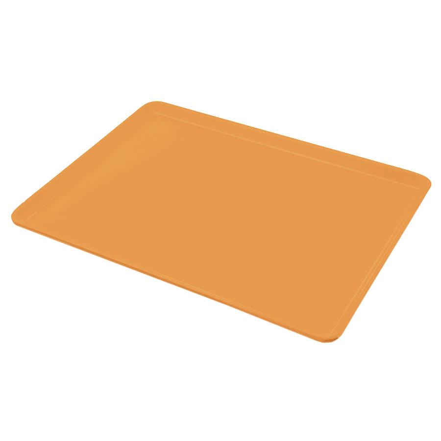 "Carlisle 1216LFG019 Rectangular Cafeteria Tray - Low-Edge, 16-3/8x12"" Rust"
