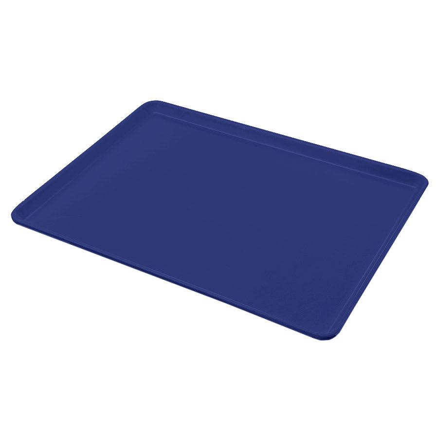 "Carlisle 1216LFG050 Rectangular Cafeteria Tray - Low-Edge, 16-3/8x12"" Sapphire Blue"