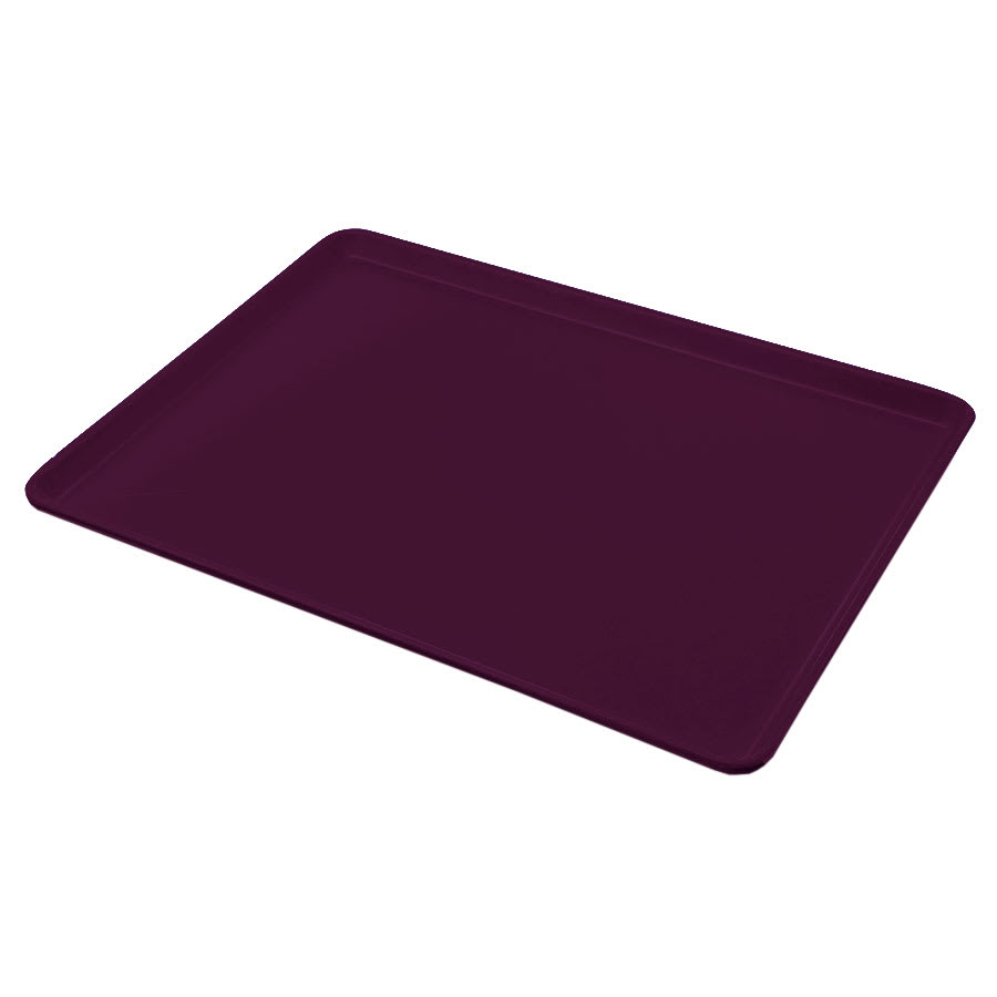 "Carlisle 1216LFG052 Rectangular Cafeteria Tray - Low-Edge, 16-3/8x12"" Amethyst"