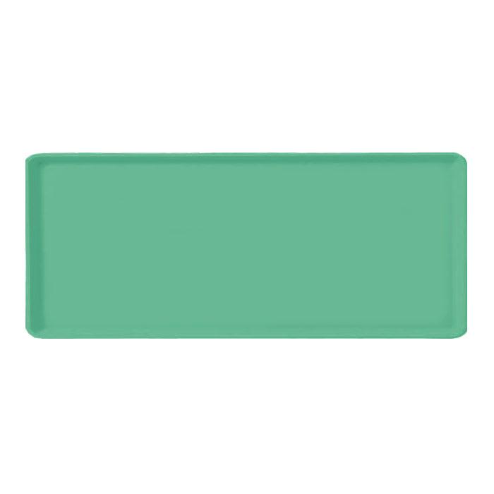 "Carlisle 1219LFG007 Rectangular Cafeteria Tray - 19x12"" Tropical Green"