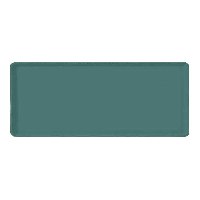 "Carlisle 1219LFG010 Rectangular Cafeteria Tray - 19x12"" Forest Green"