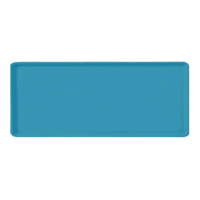 """Carlisle 1219LFG011 Rectangular Cafeteria Tray - 19x12"""" Turquoise"""