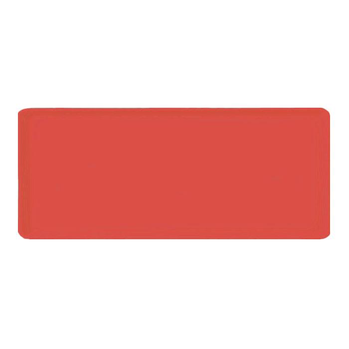 "Carlisle 1219LFG017 Rectangular Cafeteria Tray - 19x12"" Red"