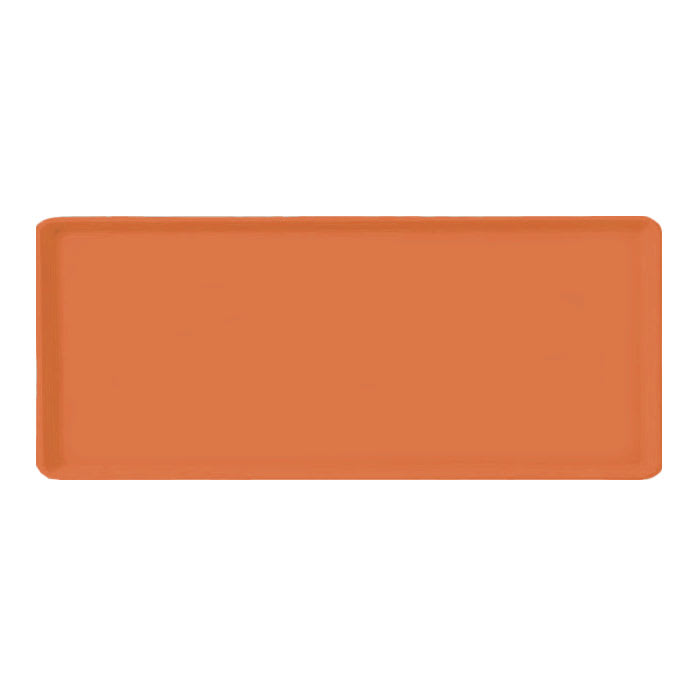 "Carlisle 1219LFG018 Rectangular Cafeteria Tray - 19x12"" Orange"