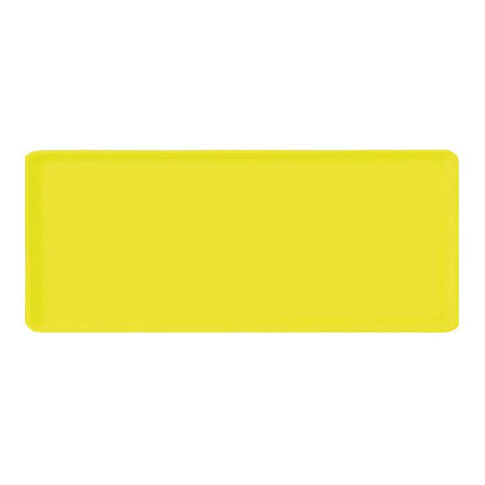 "Carlisle 1219LFG021 Rectangular Cafeteria Tray - 19x12"" Pineapple"