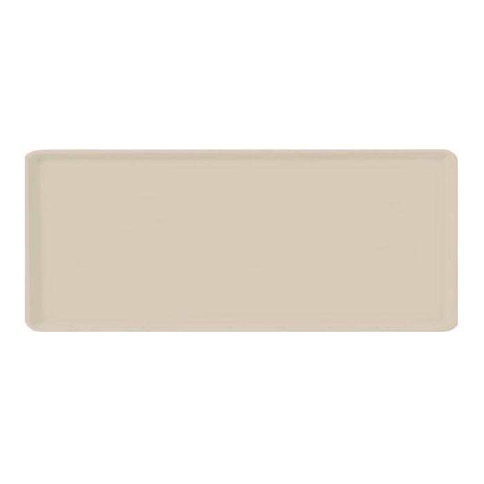 "Carlisle 1219LFG025 Rectangular Cafeteria Tray - 19x12"" Beige"