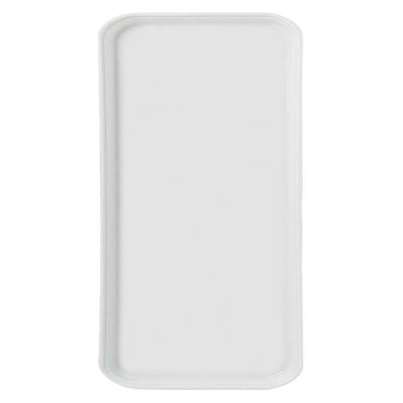 Carlisle 1220FG001 Rectangular Cafeteria Tray - 53cmx32.5cm, Bone White