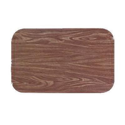 Carlisle 1220WFG063 Rectangular Cafeteria Tray - 53cmx32.5cm, Pecan Woodgrain