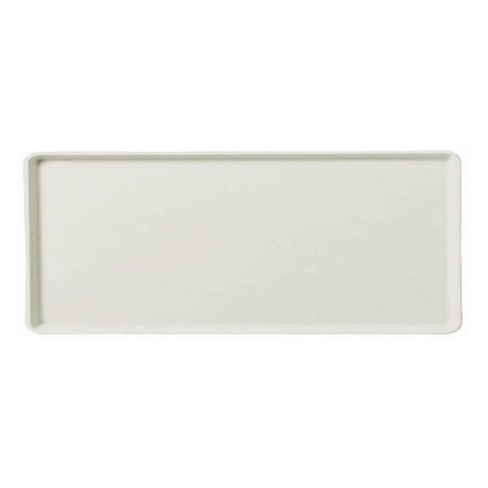 "Carlisle 1222LFG001 Rectangular Cafeteria Tray - 21x12"" Bone White"