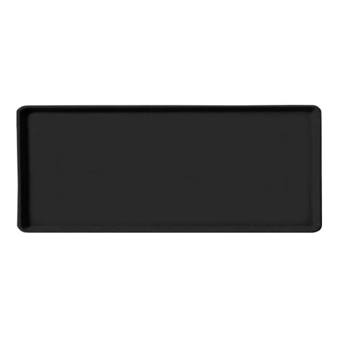 "Carlisle 1222LFG004 Rectangular Cafeteria Tray - 21x12"" Black"
