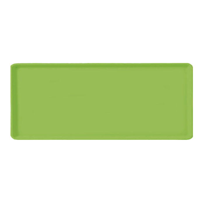 "Carlisle 1222LFG009 Rectangular Cafeteria Tray - 21x12"" Lime"