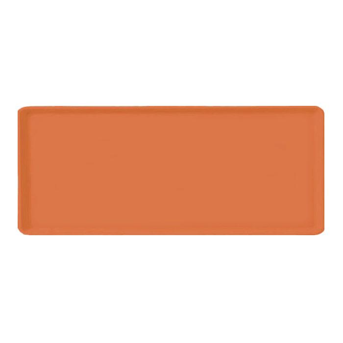 "Carlisle 1222LFG018 Rectangular Cafeteria Tray - 21x12"" Orange"