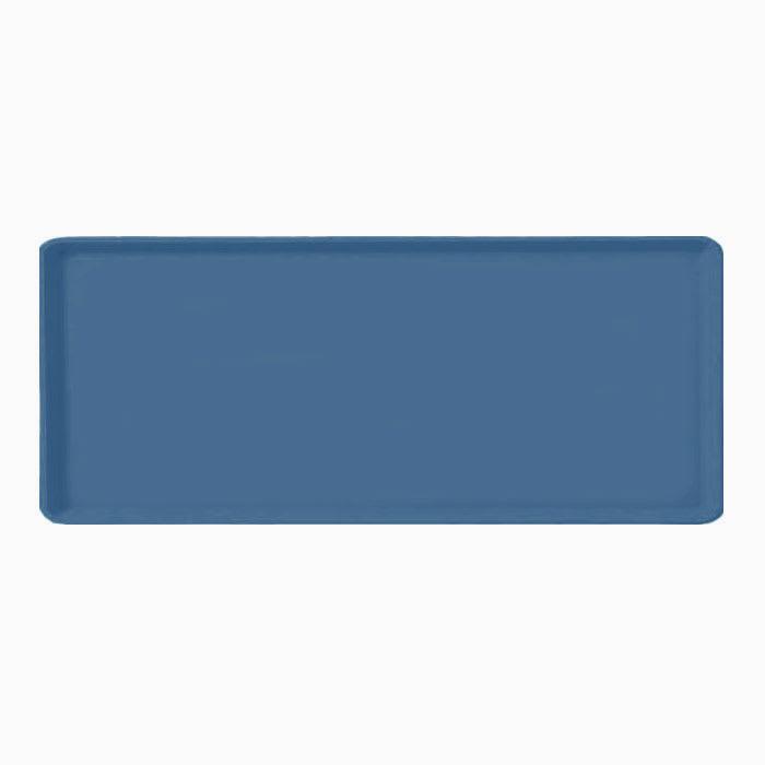 "Carlisle 1222LFG067 Rectangular Cafeteria Tray - 21x12"" Slate Blue"
