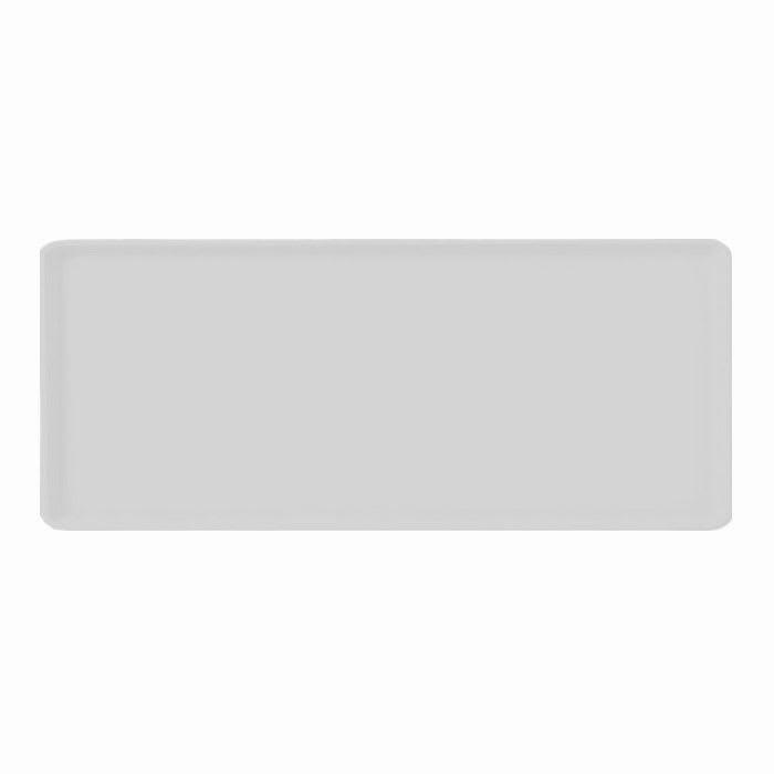 "Carlisle 1222LFG068 Rectangular Cafeteria Tray - 21x12"" Gray"