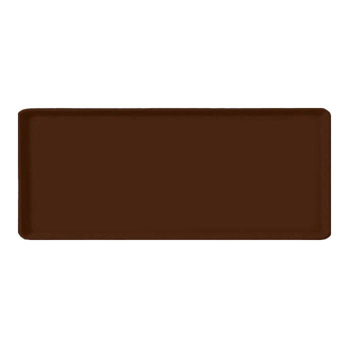 "Carlisle 1222LFG127 Rectangular Cafeteria Tray - 21x12"" Chocolate"