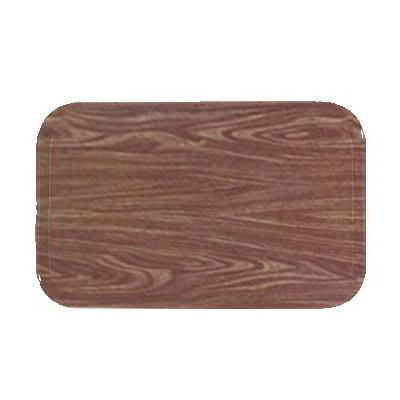 "Carlisle 1222LWFG063 Rectangular Cafeteria Tray - 21x12"" Pecan Woodgrain"