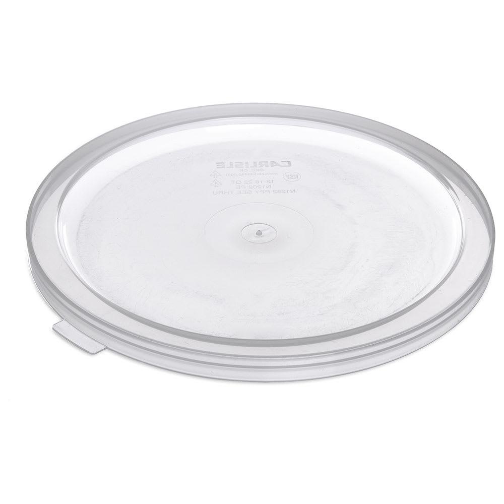 Carlisle 125230 Bain Marie Food Storage Lid, 12, 18 & 22 qt, Polyethylene, Translucent