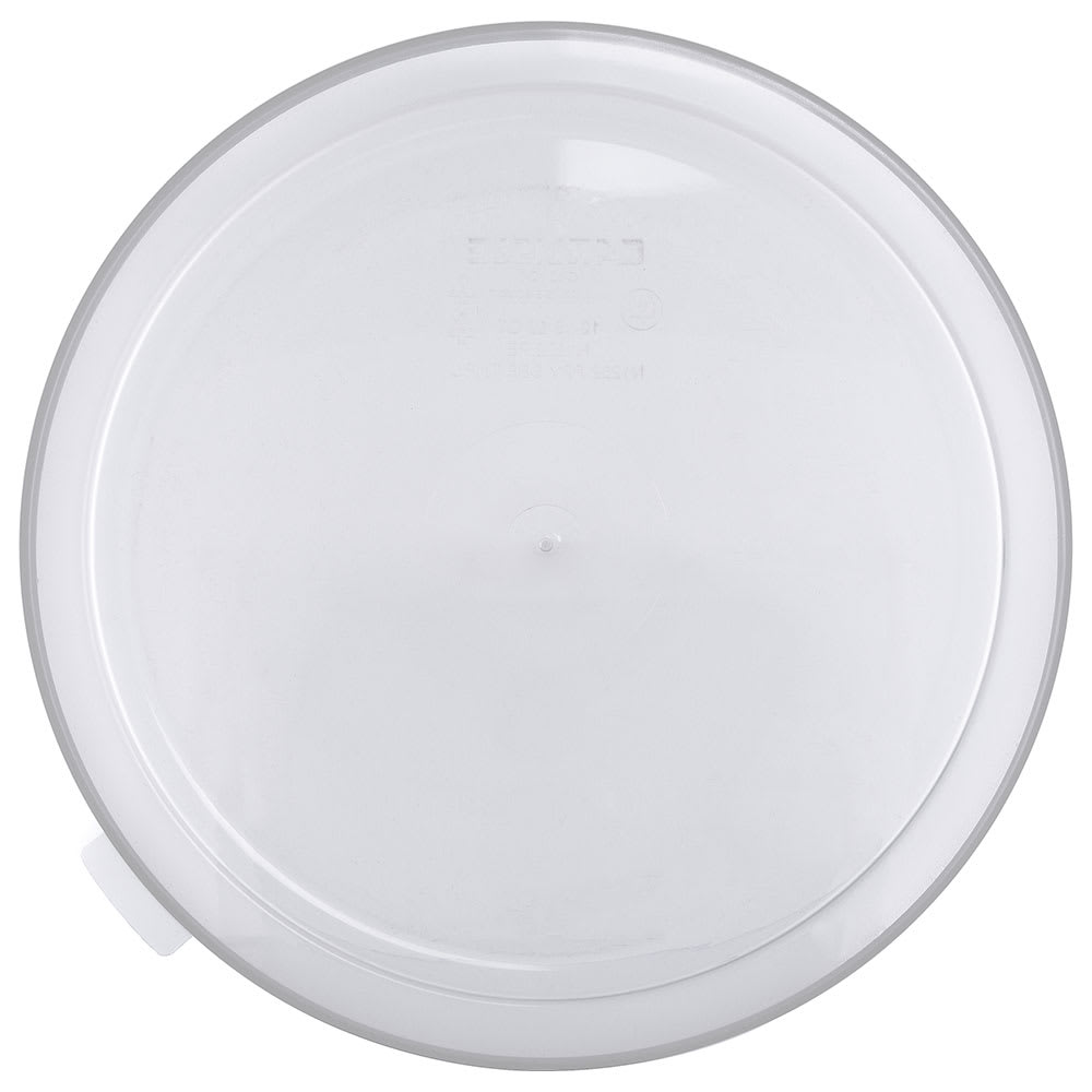 Carlisle 125330 3/5 gal Round Dispenser Lid - Clear