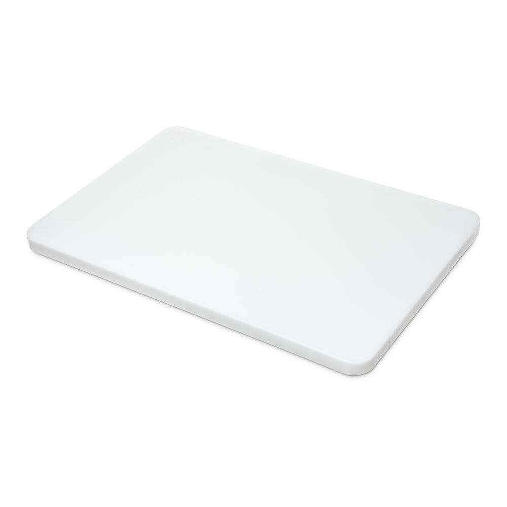 "Carlisle 1288102 Poly Cutting Board - 12x18x3/4"" White"