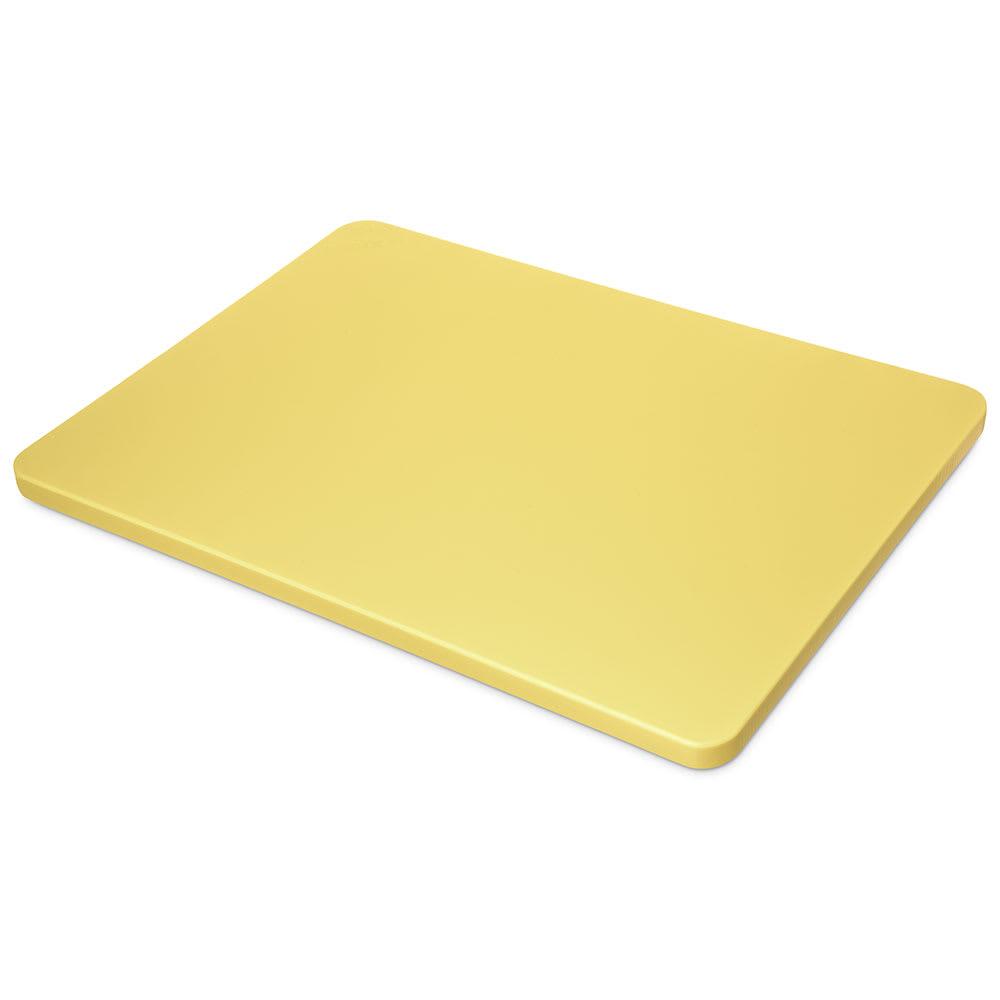 """Carlisle 1288204 Poly Cutting Board - 12x18x3/4"""" Yellow"""