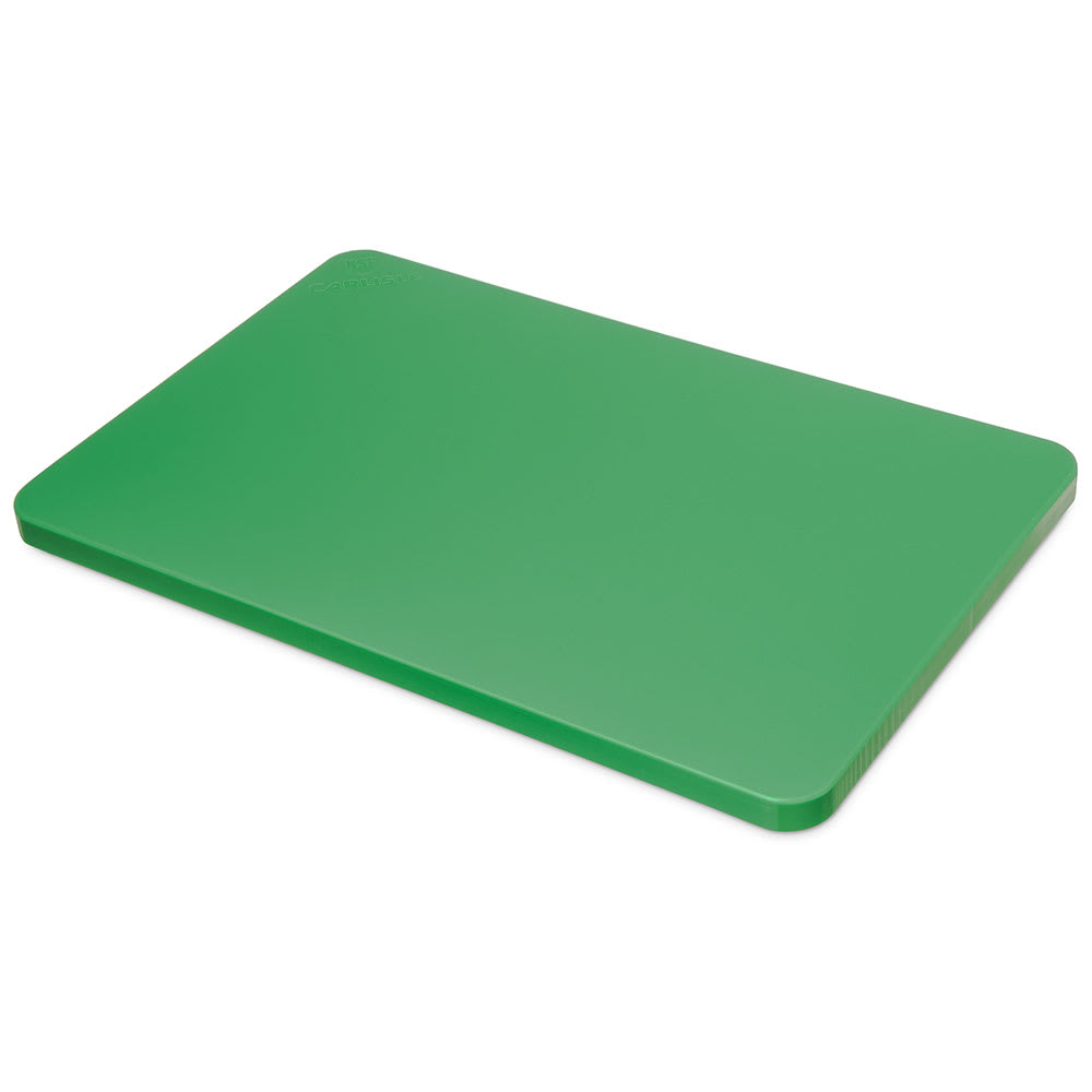 "Carlisle 1288209 Poly Cutting Board - 12x18x3/4"" Green"