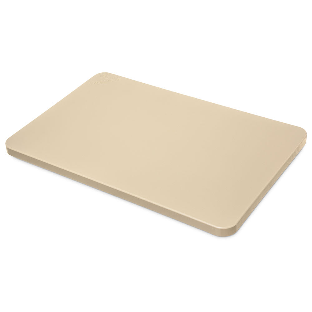 "Carlisle 1288725 Poly Cutting Board - 15x20x3/4"" Tan"