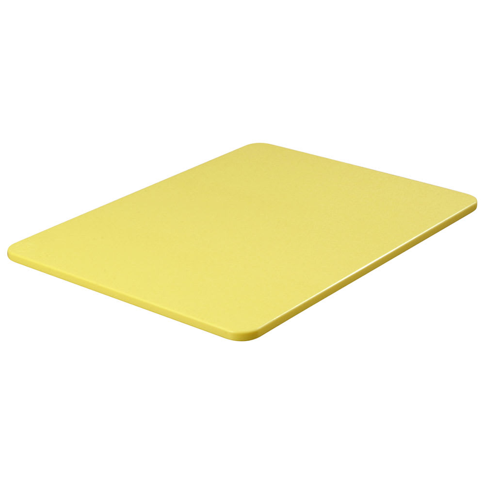 "Carlisle 1289204 Poly Cutting Board - 18x24x3/4"" Yellow"