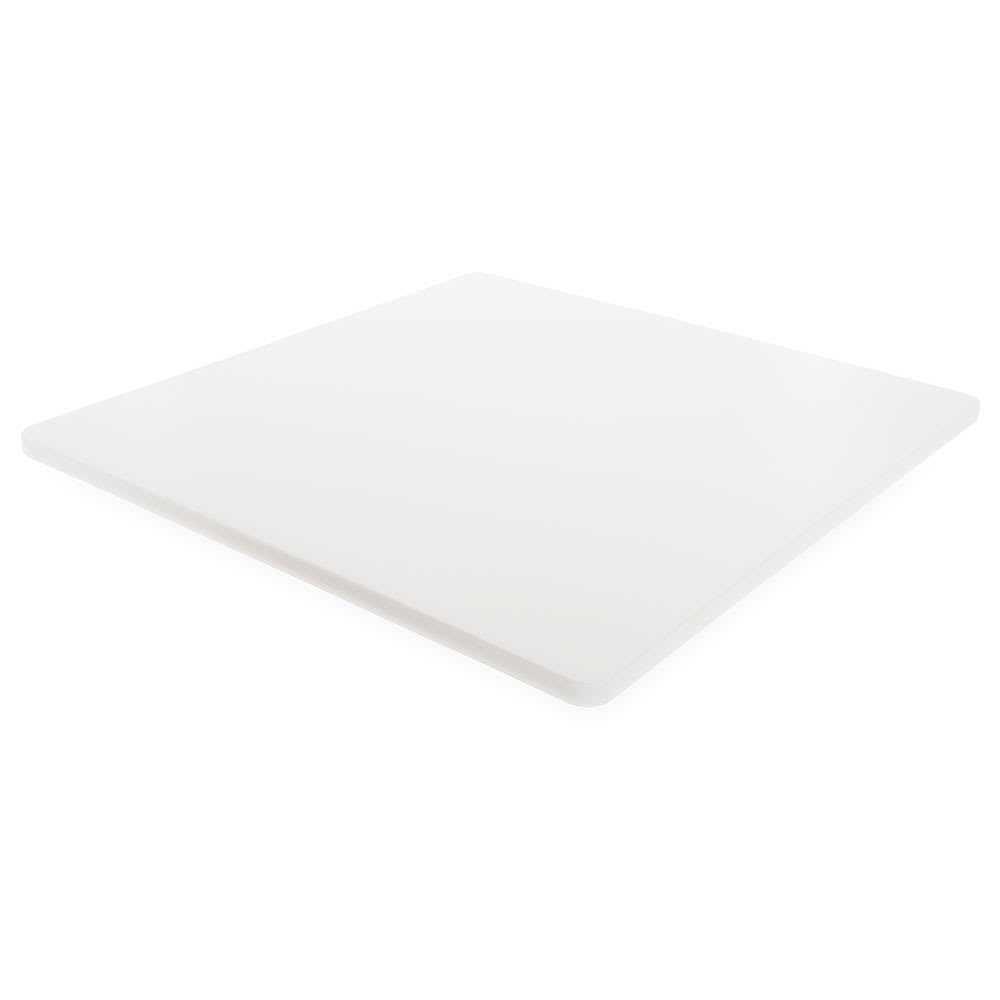 "Carlisle 1290102 Poly Cutting Board - 24x24x3/4"" White"