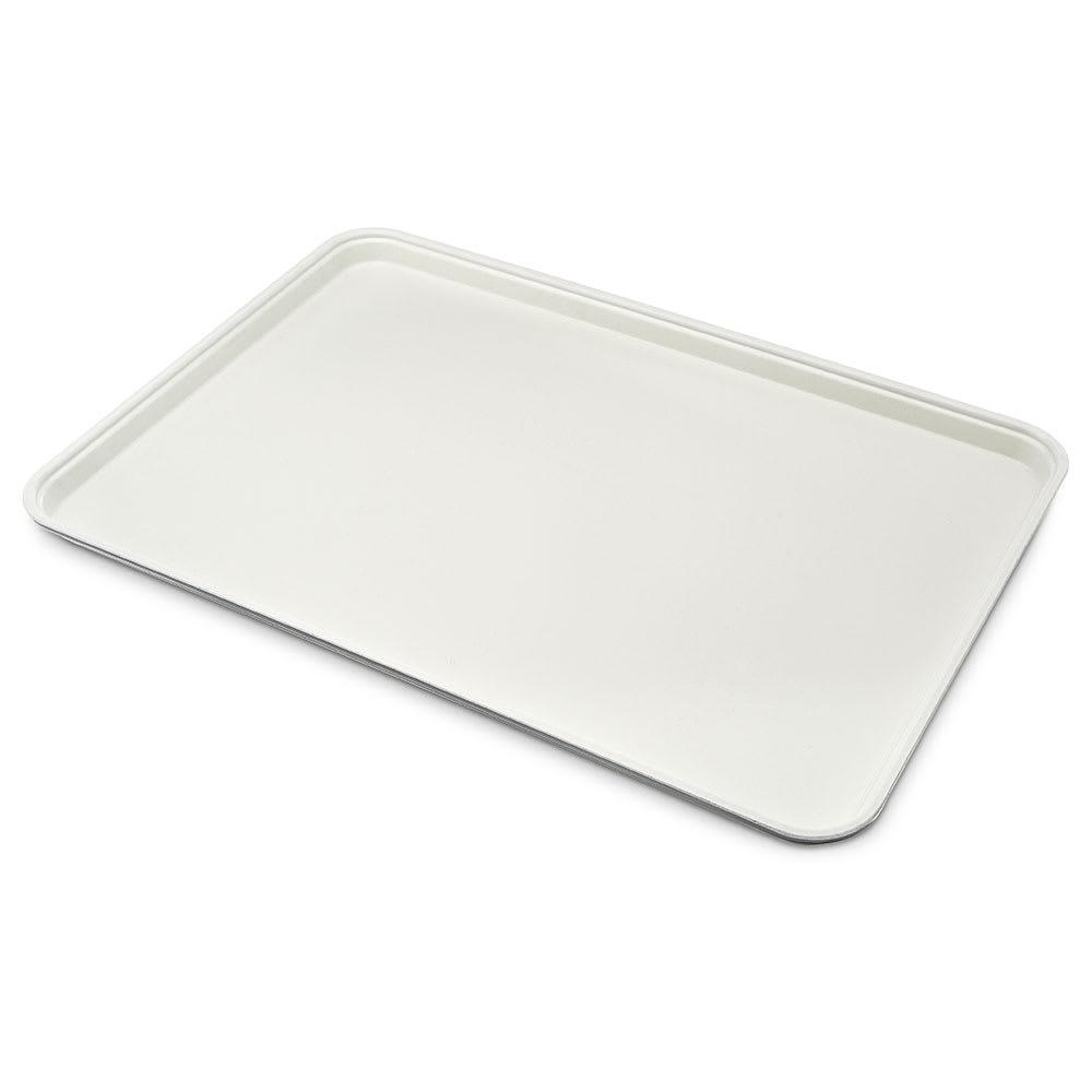 "Carlisle 1318FG001 Rectangular Display/Bakery Tray - 12 3/4x17 3/4x1"" Bone White"