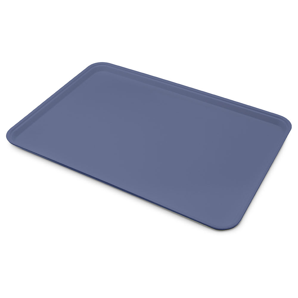 "Carlisle 1318FG014 Rectangular Display/Bakery Tray - 12-3/4x17-3/4x1"" Cobalt Blue"