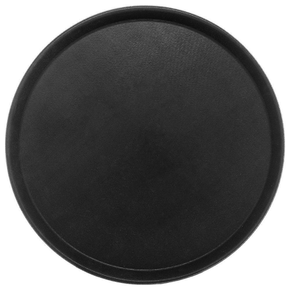 "Carlisle 1400GL004 14 5/8"" Round Serving Tray - Black"