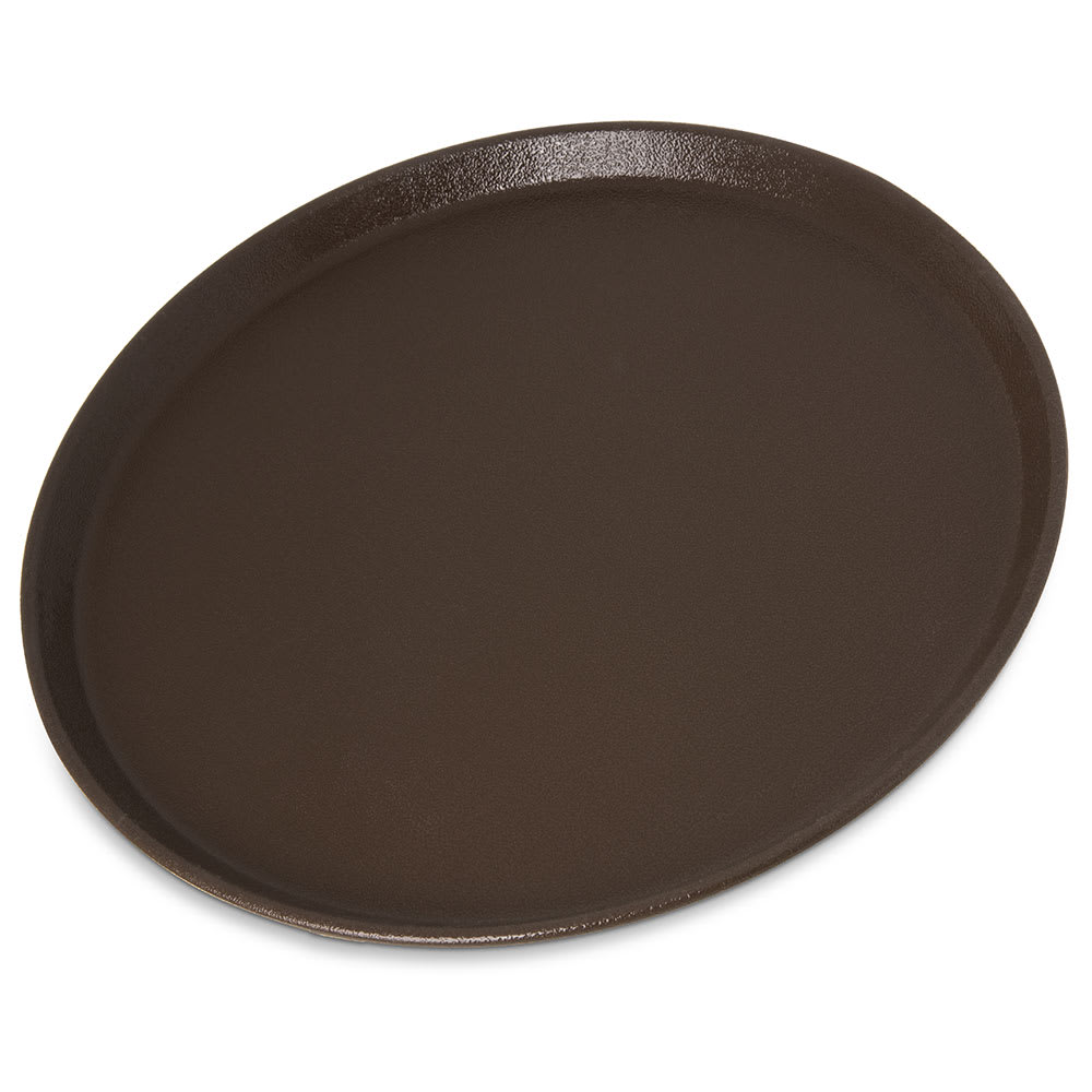 "Carlisle 1400GR2076 14"" Round Griptite™ 2 Serving Tray, Brown"