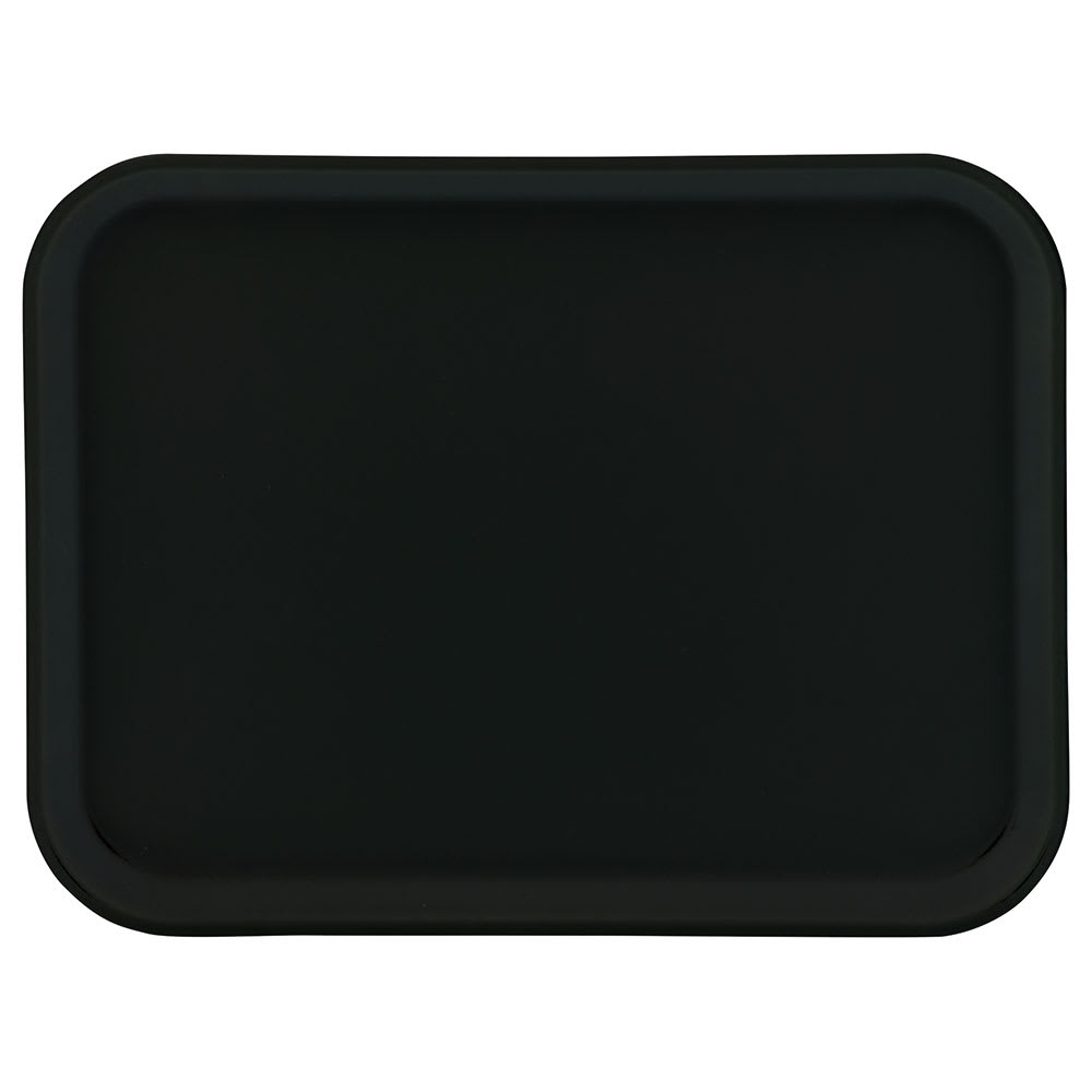 "Carlisle 1410FG004 Rectangular Cafeteria Tray - 13-3/4x10-5/8"" Black"