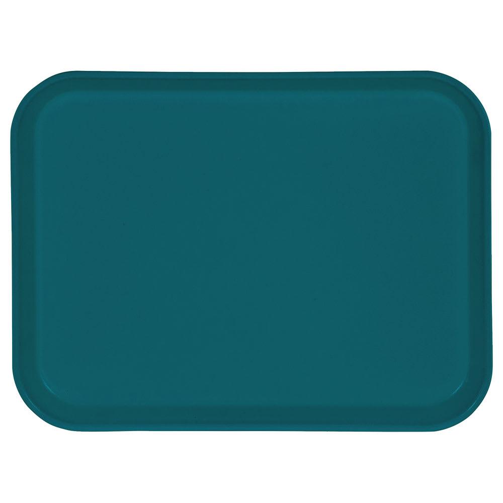 "Carlisle 1410FG006 Rectangular Cafeteria Tray - 13 3/4x10 5/8"" Ultramarine"