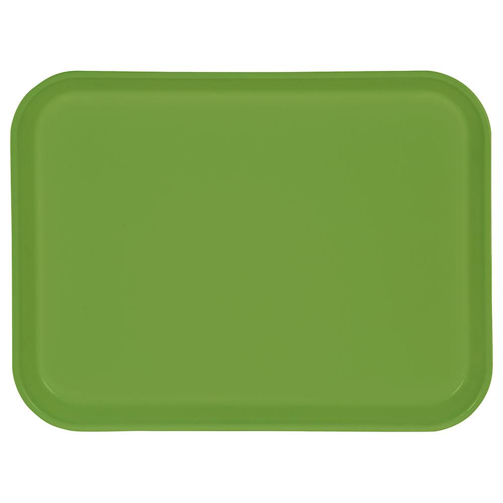 "Carlisle 1410FG009 Rectangular Cafeteria Tray - 13 3/4x10 5/8"" Lime"