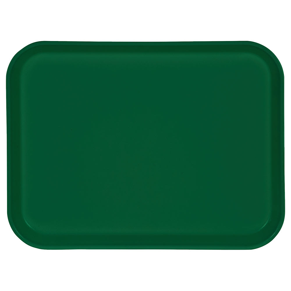 "Carlisle 1410FG010 Rectangular Cafeteria Tray - 13-3/4x10-5/8"" Forest Green"