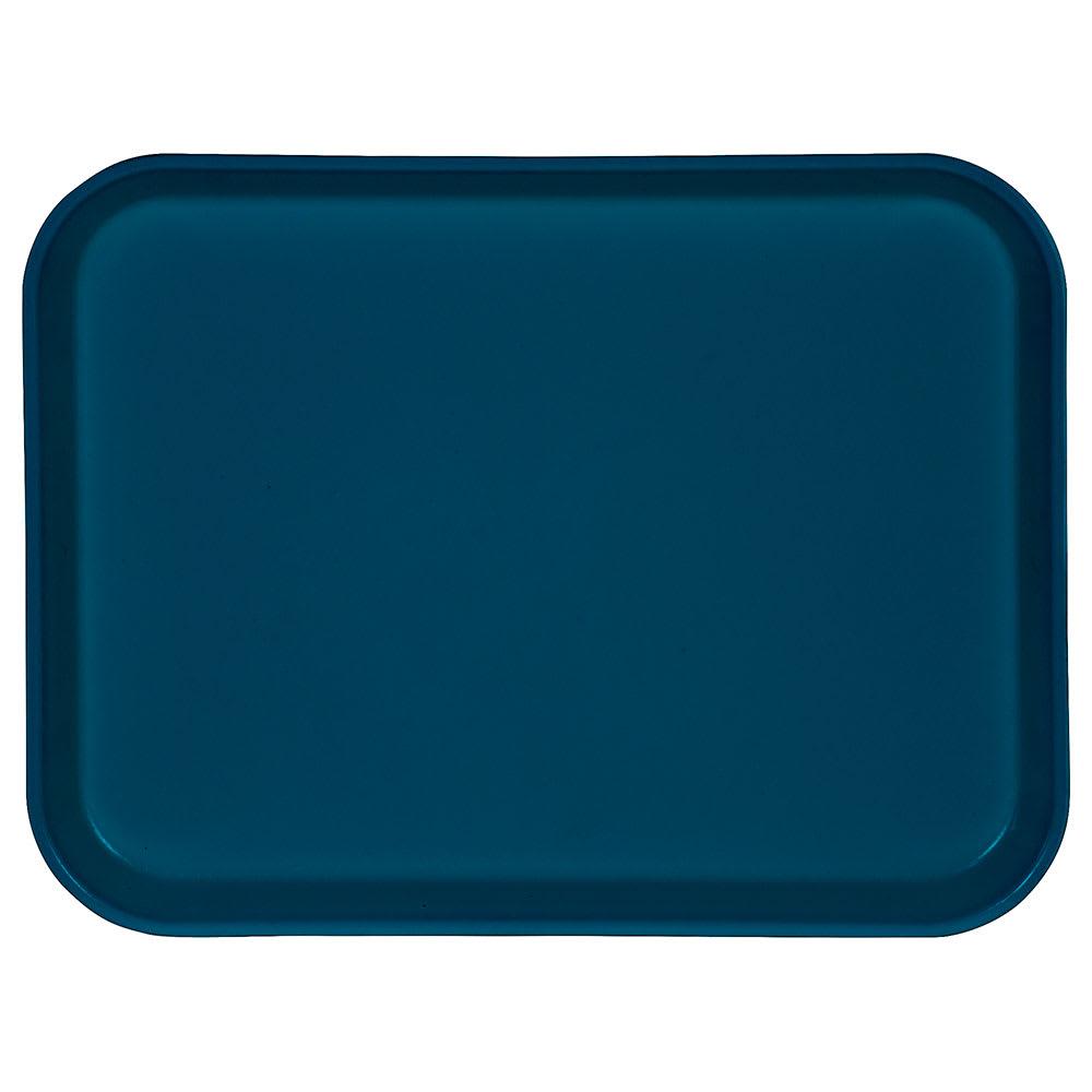 """Carlisle 1410FG014 Rectangular Cafeteria Tray - 13 3/4x10 5/8"""" Cobalt Blue"""