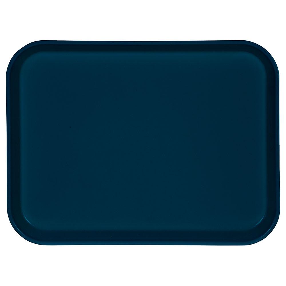 "Carlisle 1410FG015 Rectangular Cafeteria Tray - 13-3/4x10-5/8"" Navy"
