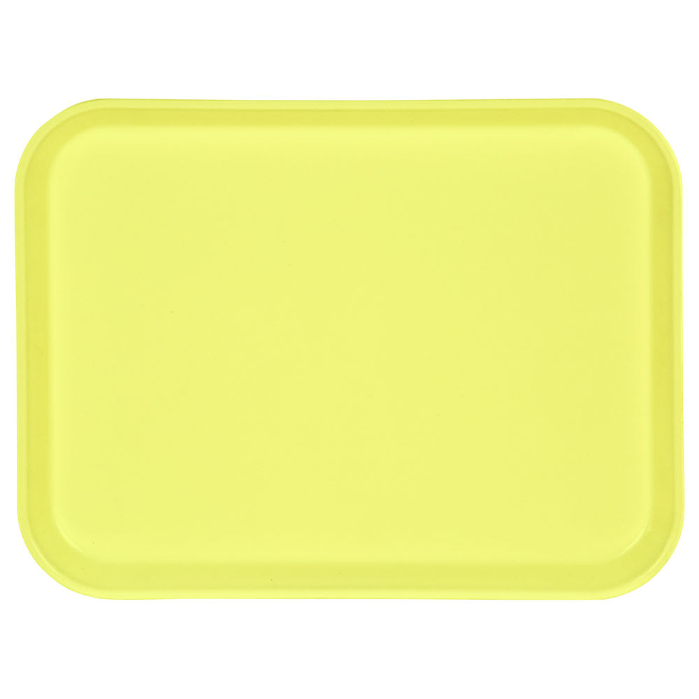 "Carlisle 1410FG021 Rectangular Cafeteria Tray - 13-3/4x10-5/8"" Pineapple"